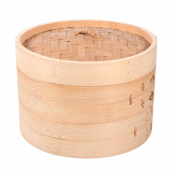 Bamboo Steamer 3 Piece 20cm
