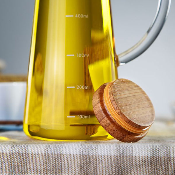 Oil & Vinegar Bottle with Bamboo Lid 580ml