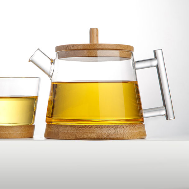 Glass Teapot with Bamboo Lid 500ml