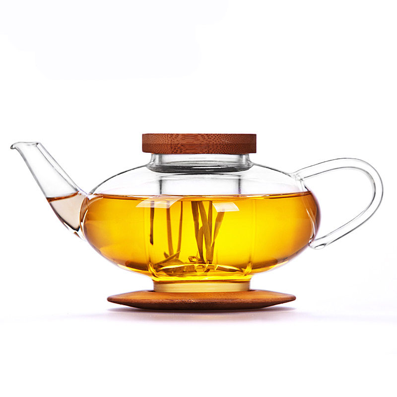 Glass Lantern Teapot with Bamboo Lid 750ml - HospitalityHQ